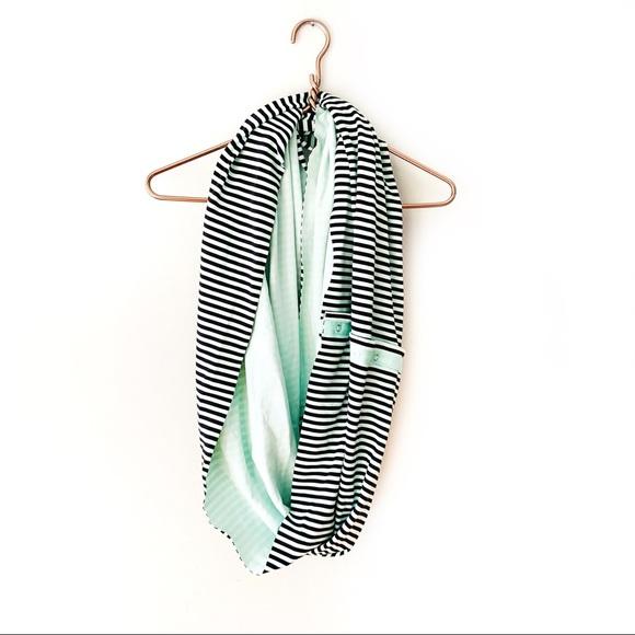 Lululemon   Mint Black Vinyasa Striped Scarf